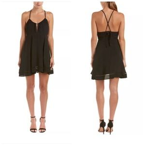 Lucca Couture Womens Tie Back Ladder Trim Dress